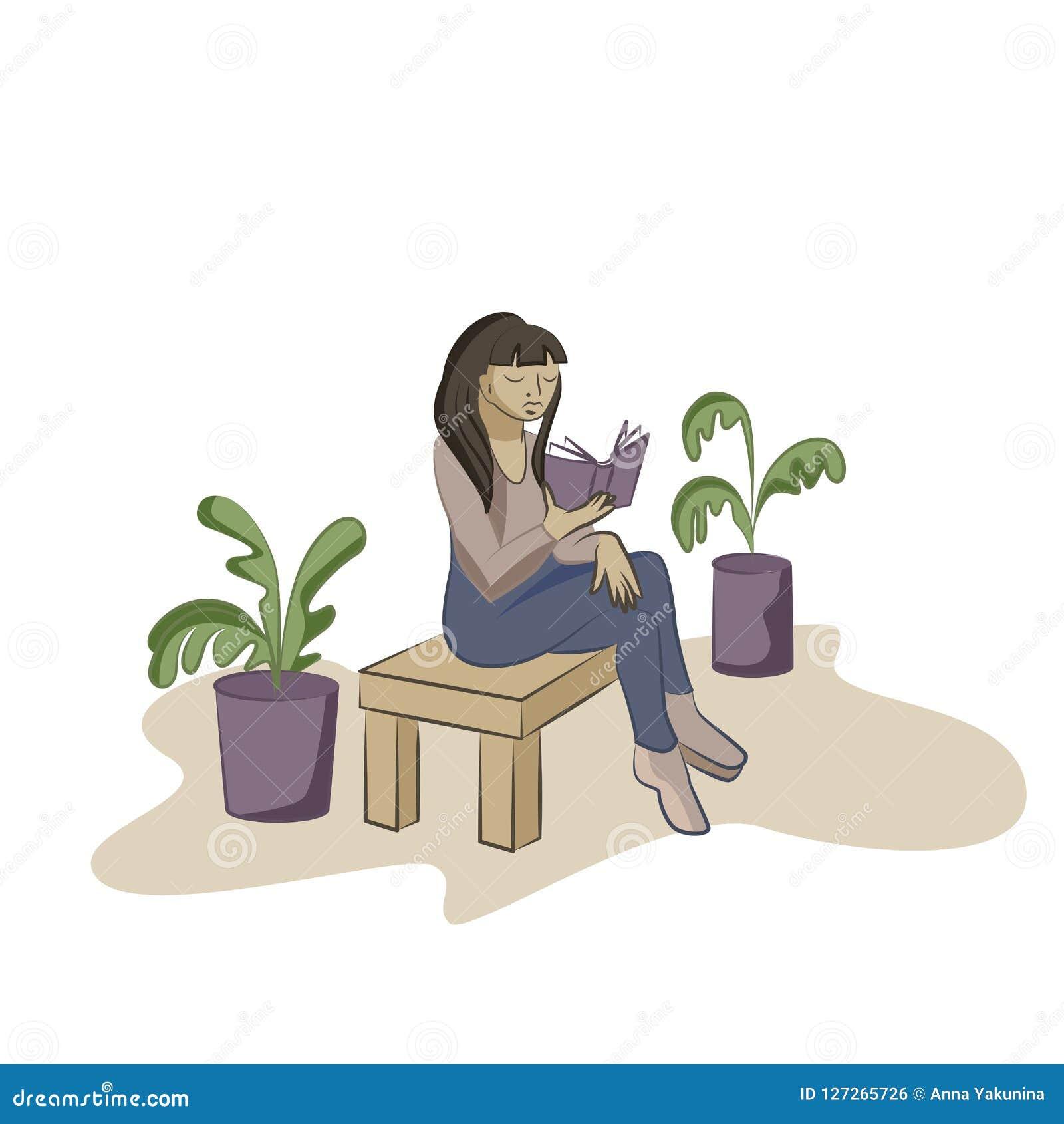 少妇在椅子的阅读书在办公室