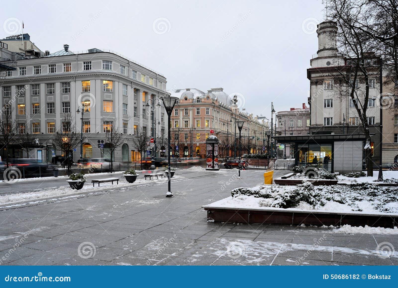 Download 维尔纽斯市白色冬天早晨时间全景 图库摄影片. 图片 包括有 本质, 颜色, 气候, 降雪, 室外, 季节 - 50686182