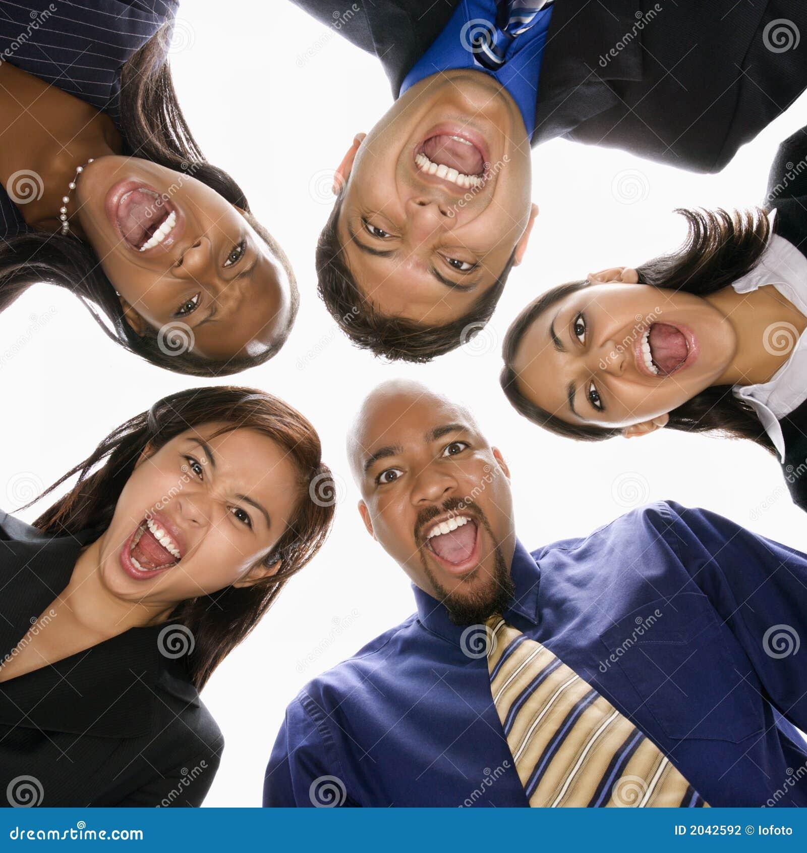 尖叫企业不同的杂乱的一团的人员