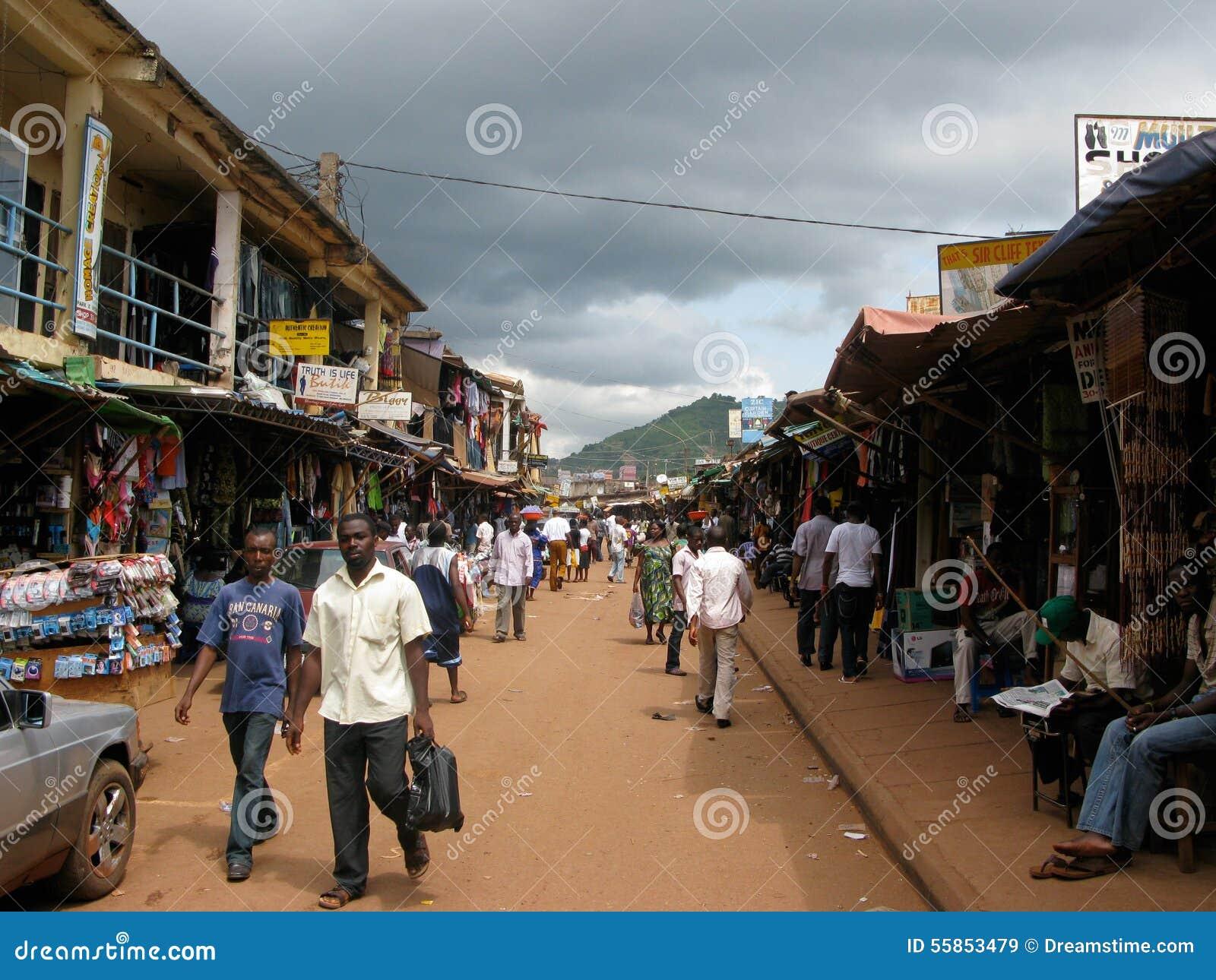 尼日利亚市场在埃努古尼日利亚