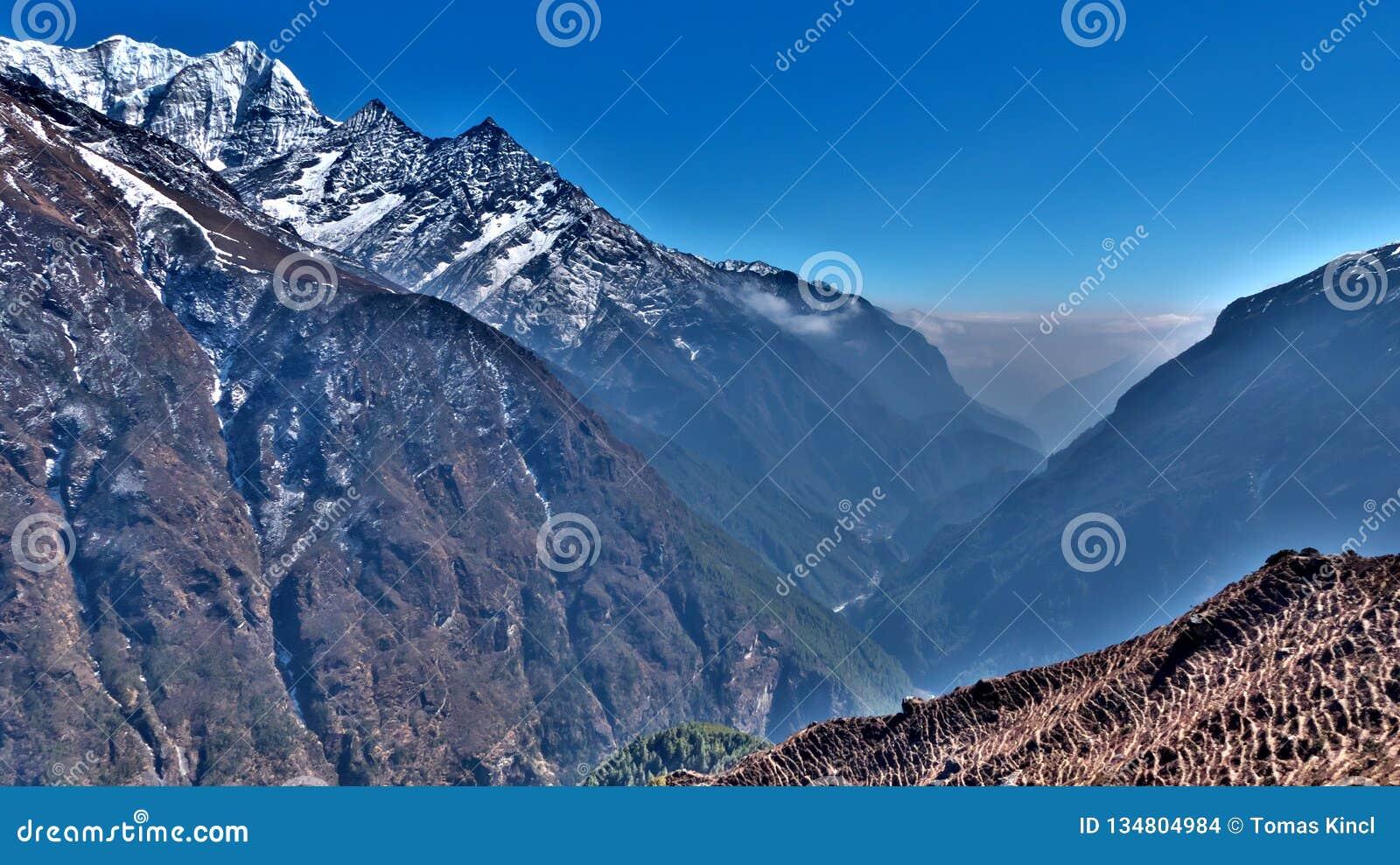 尼泊尔,对basecamp的珠穆琅玛艰苦跋涉