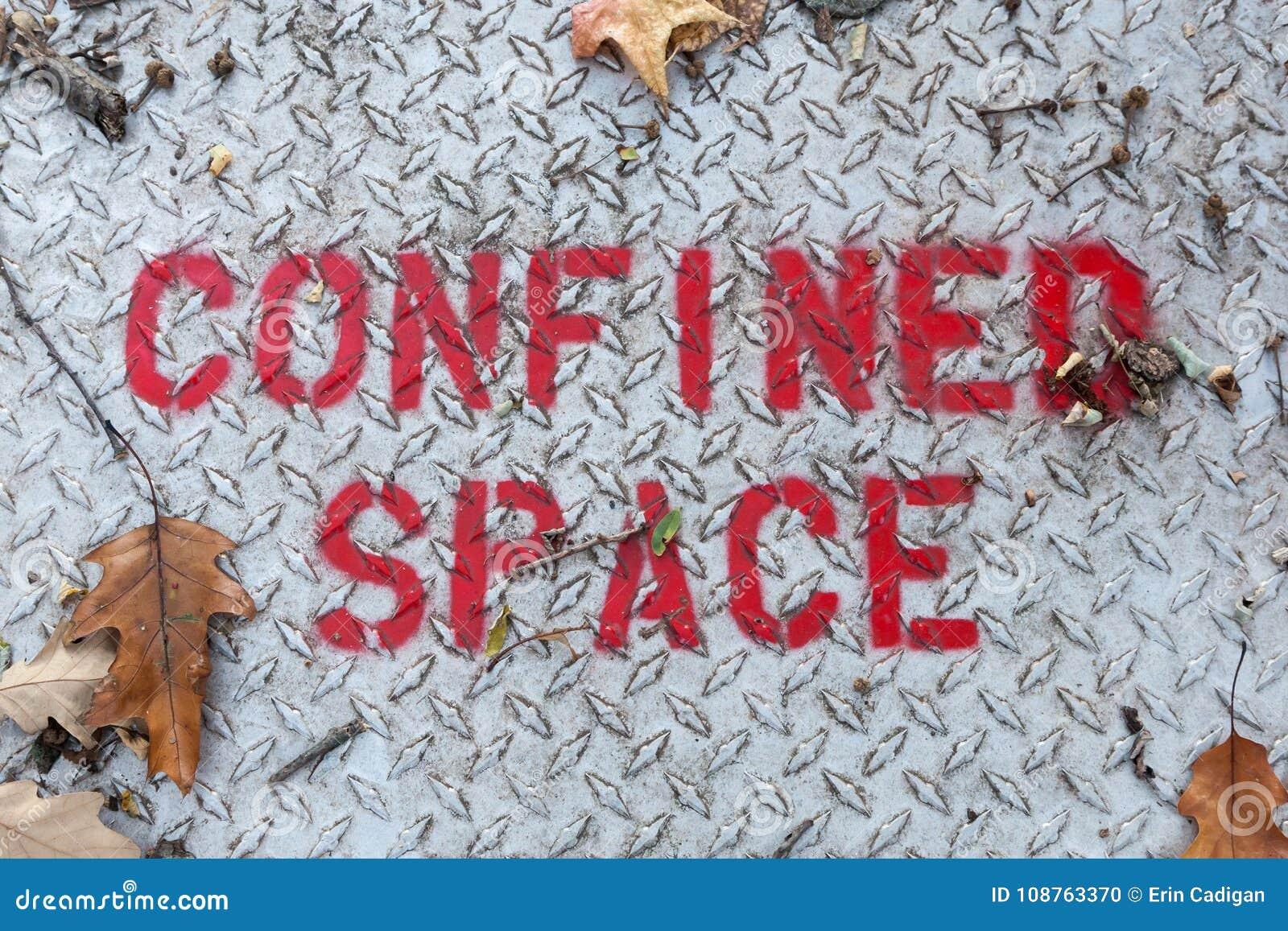 局限的空间标志