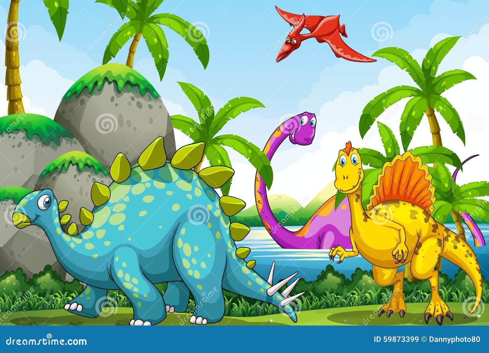 居住在密林的恐龙