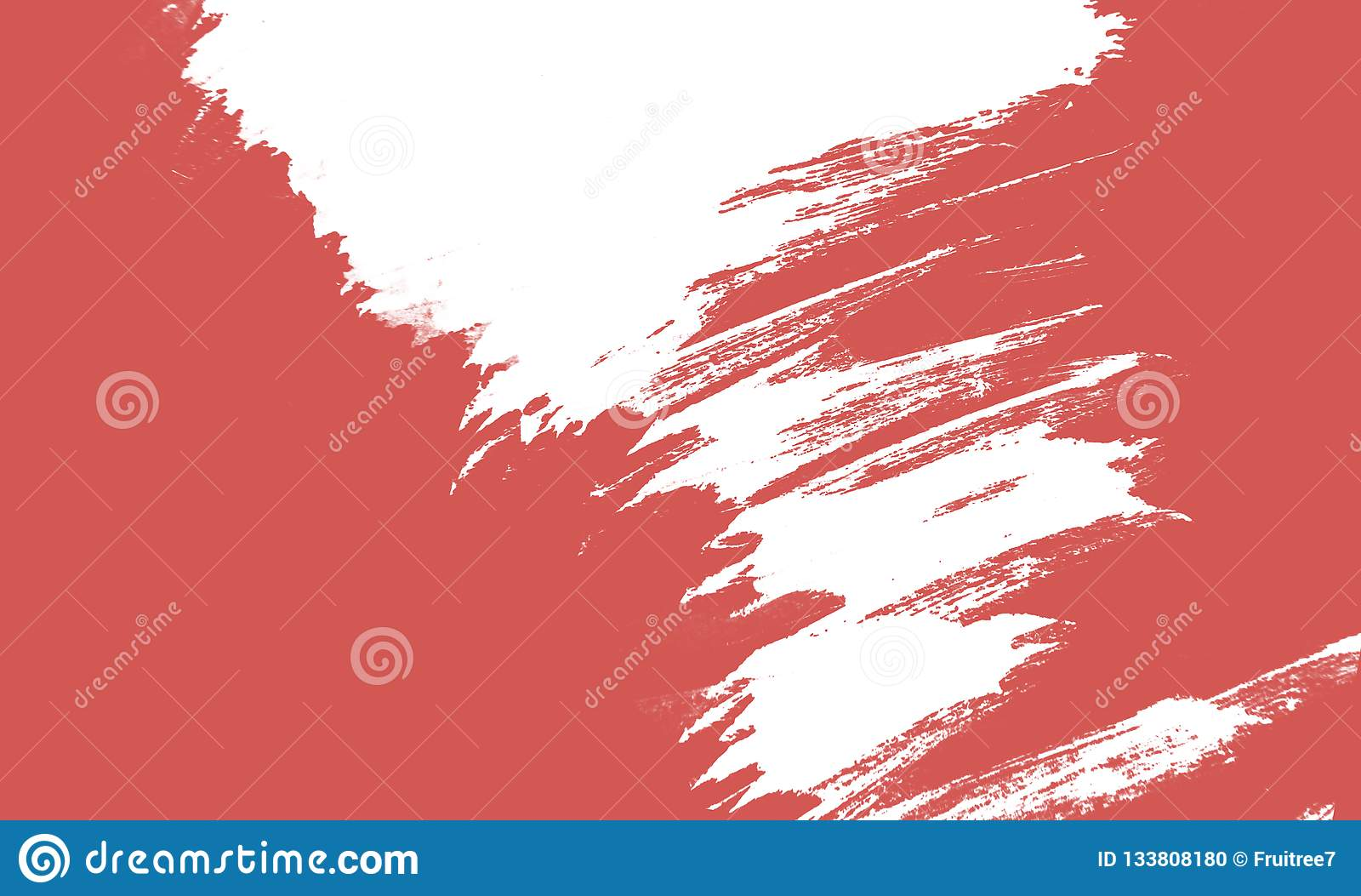 居住的珊瑚,2019年油漆冲程的颜色