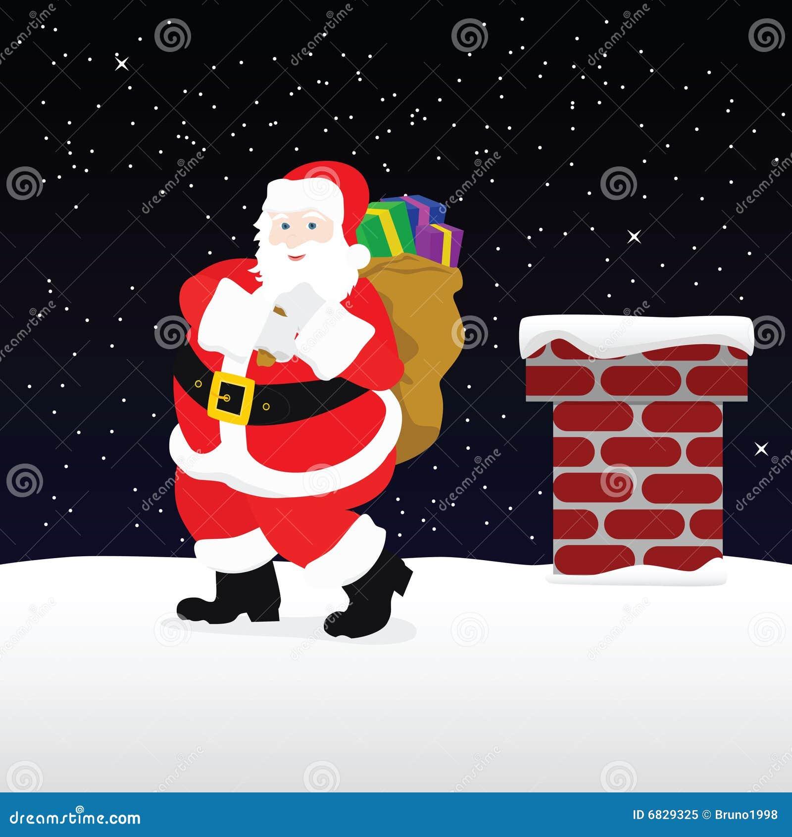 屋顶圣诞老人