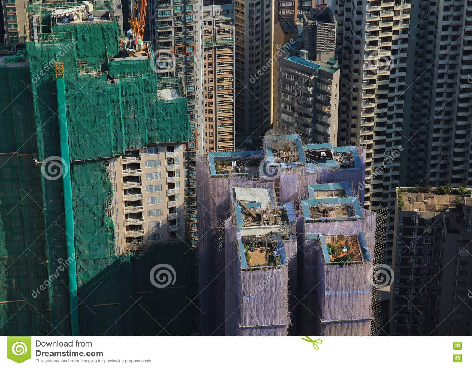 屋顶庭院在香港