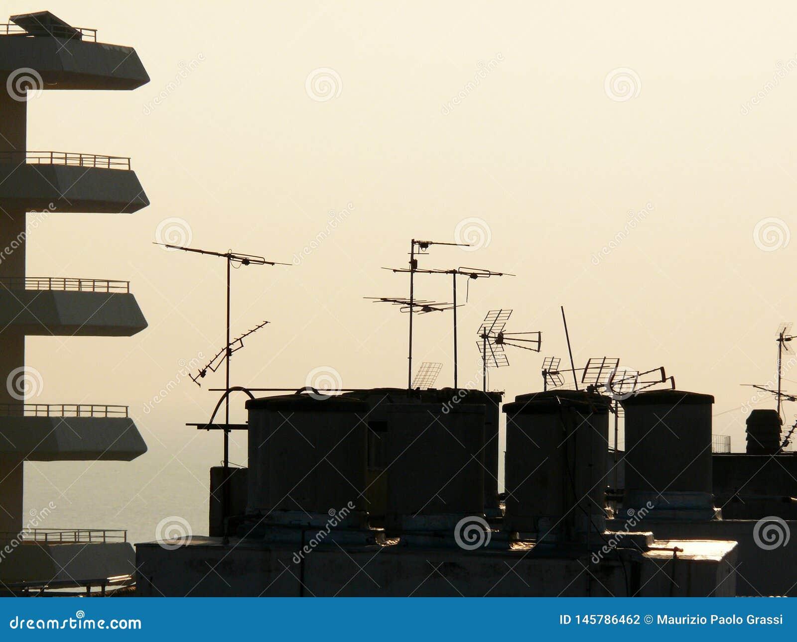 屋顶电视天线