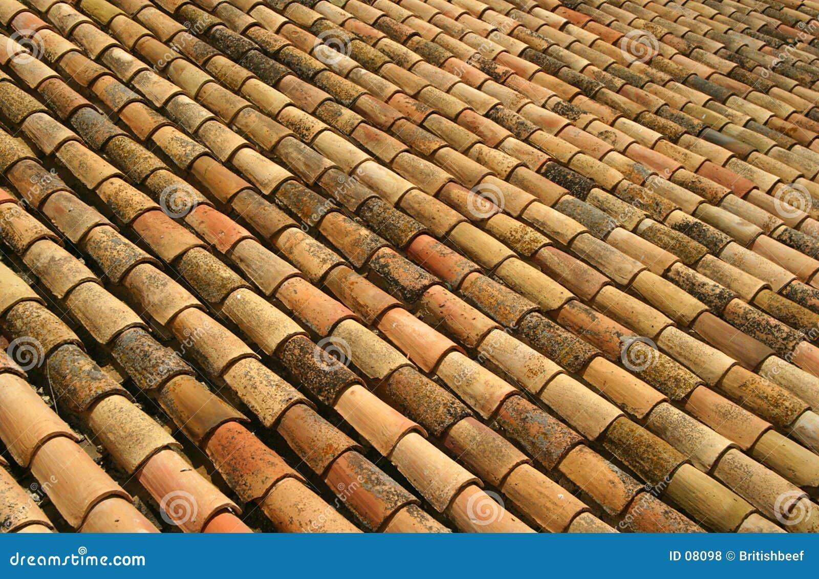 屋顶西班牙语瓦片