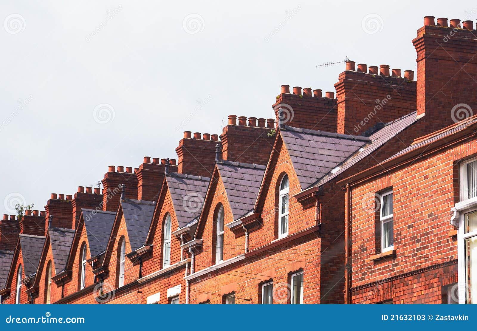屋顶连栋房屋