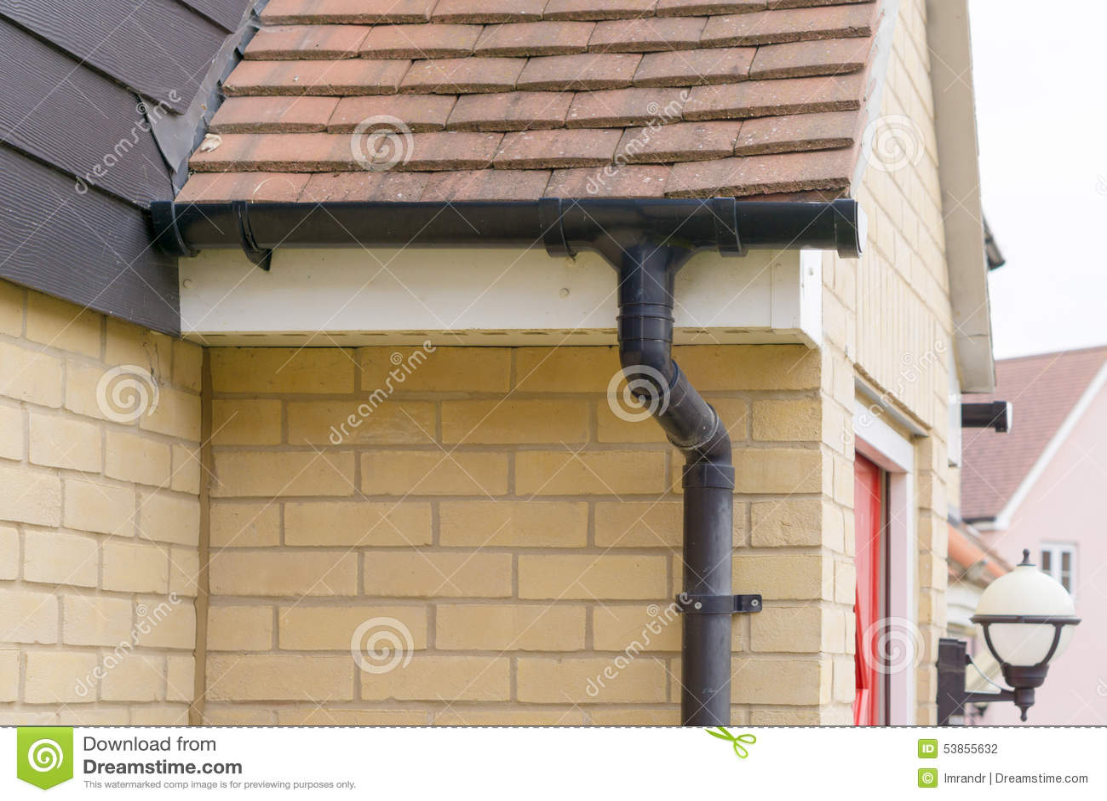屋顶Guttering水平的视图