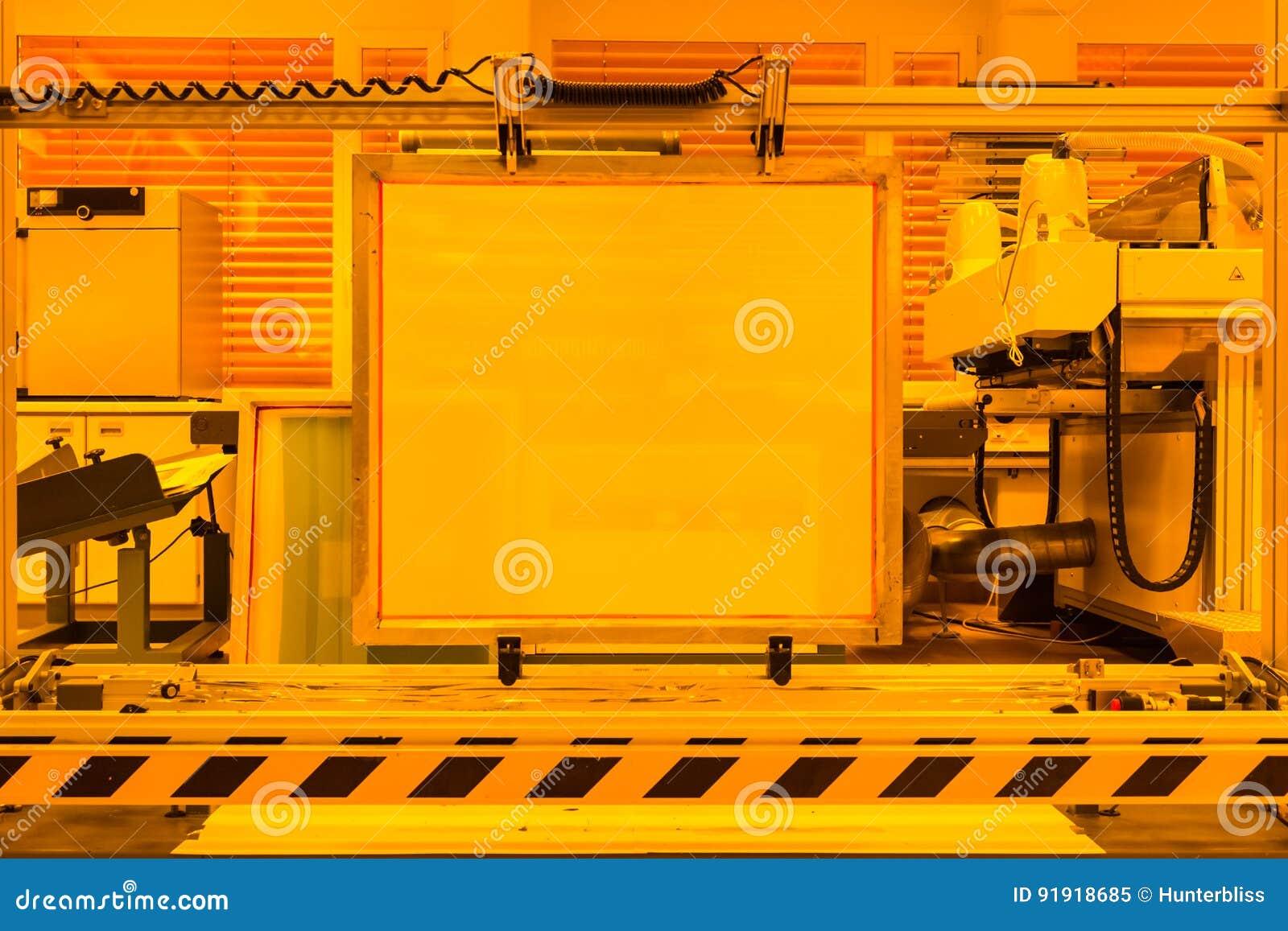 屏幕印刷装置发展黄色室专家我