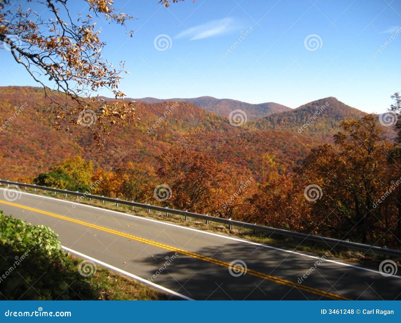 山俯视风景的路