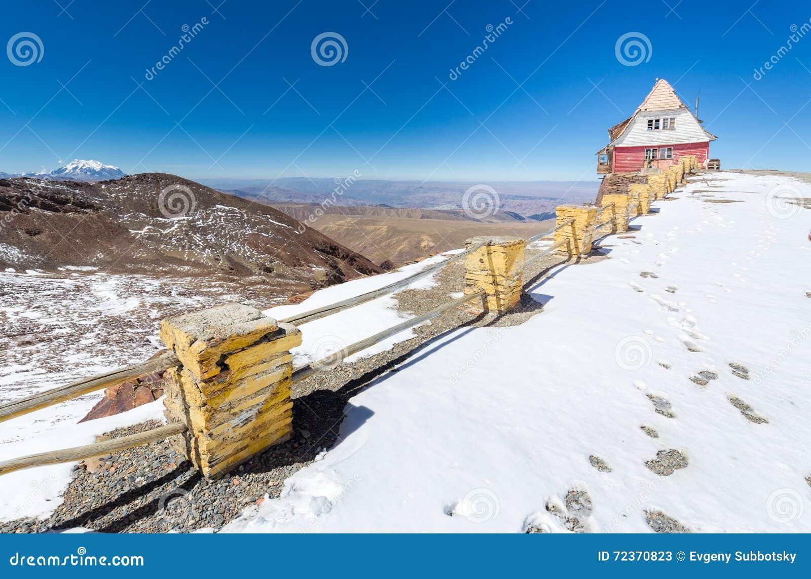 山小屋边缘观察,玻利维亚