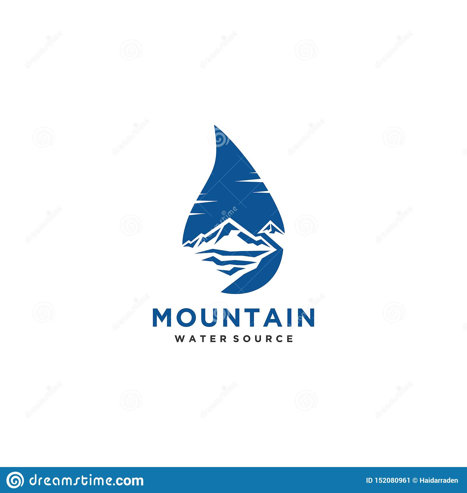 山水源商标或标志设计传染媒介