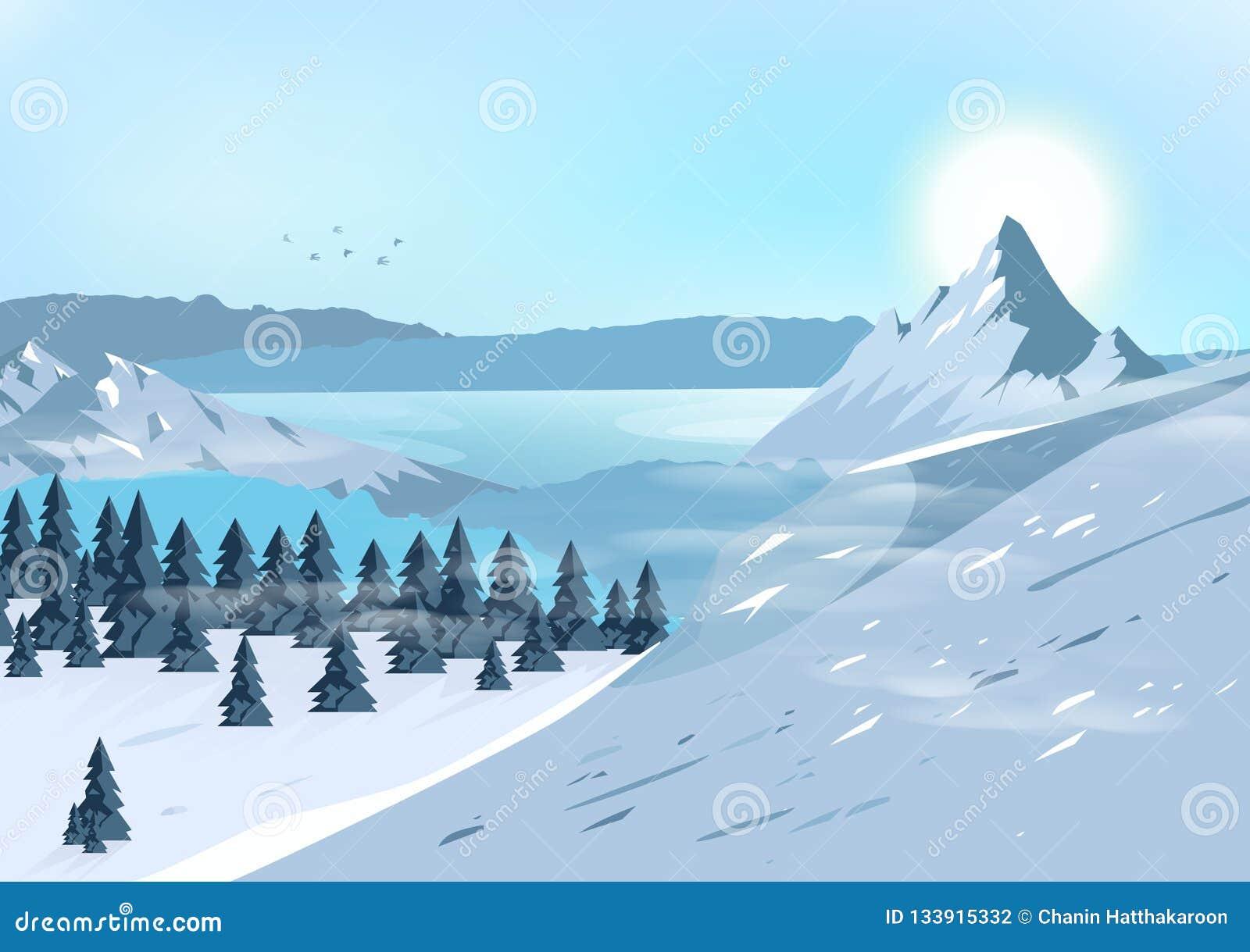 山环境美化,移动并且冒险自然概念postca