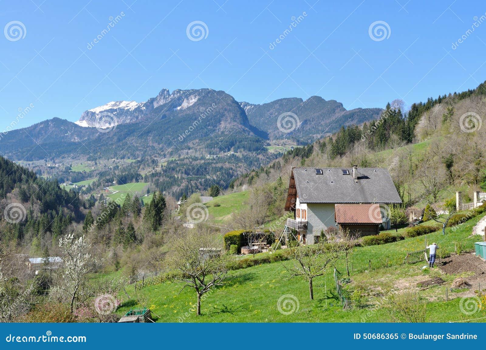 Download 山的庭院 库存图片. 图片 包括有 森林, 庭院, 乡下, 横向, 本质, 风景, 小山, 春天, 绿色 - 50686365