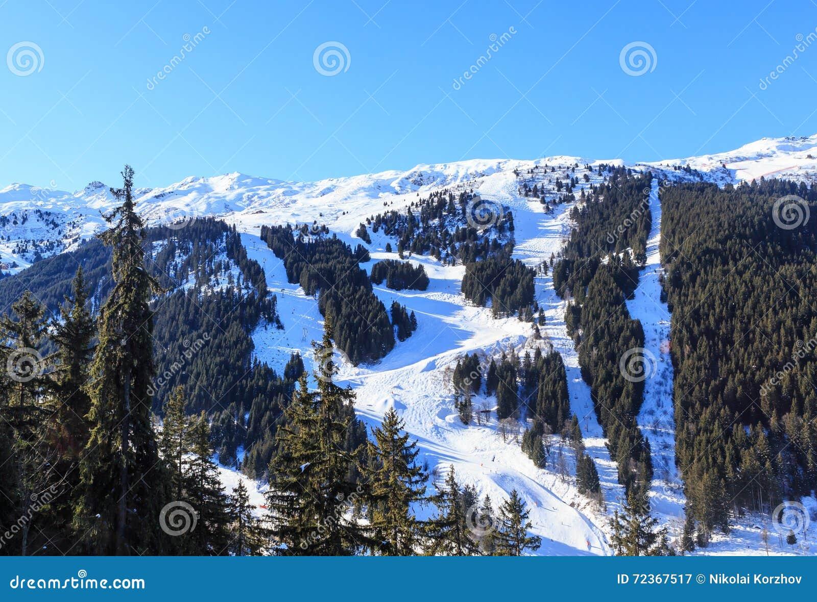 山雪冬天 Meribel滑雪胜地, Meribel别墅