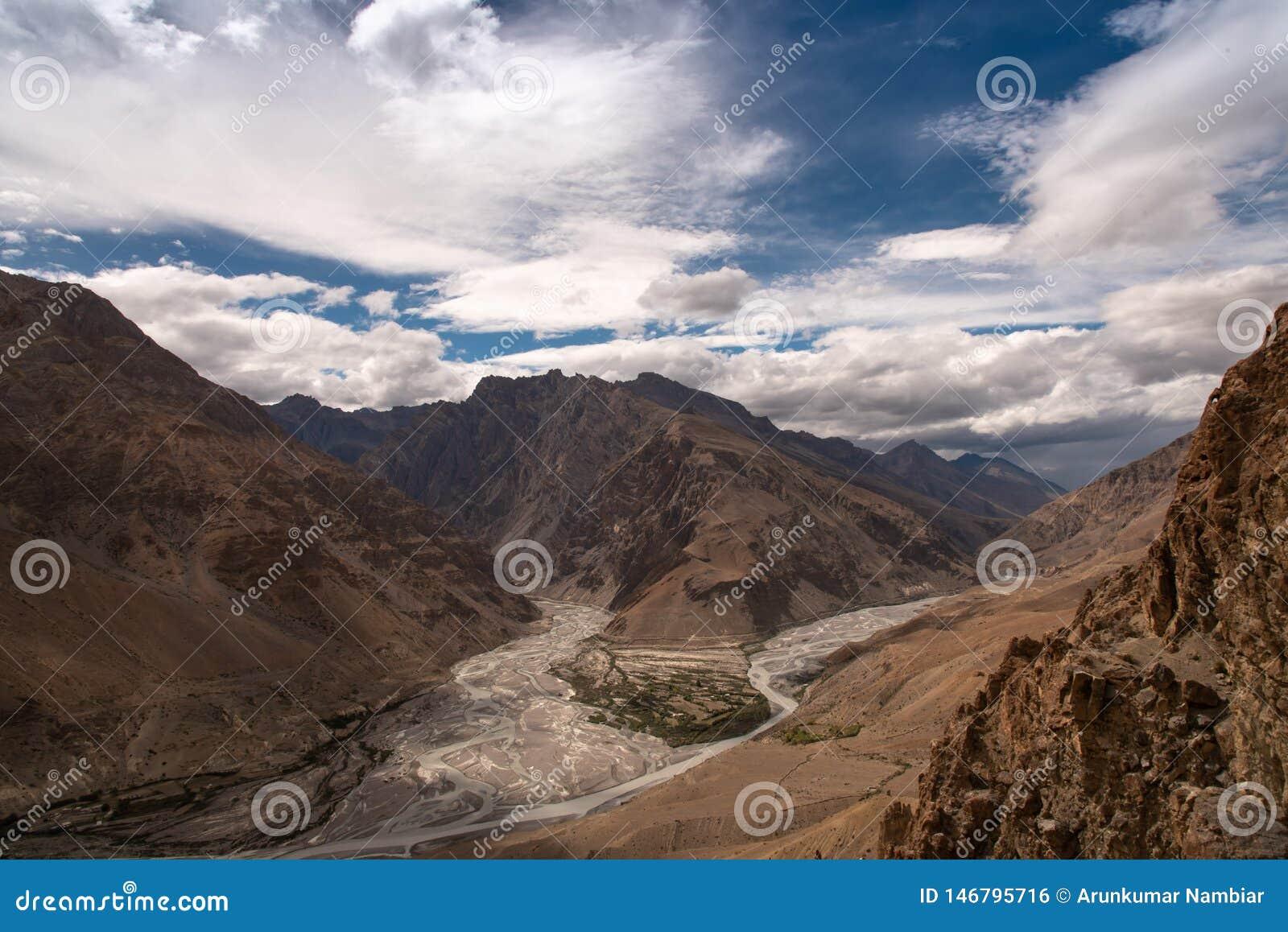 山风景,斯皮迪谷,河合流