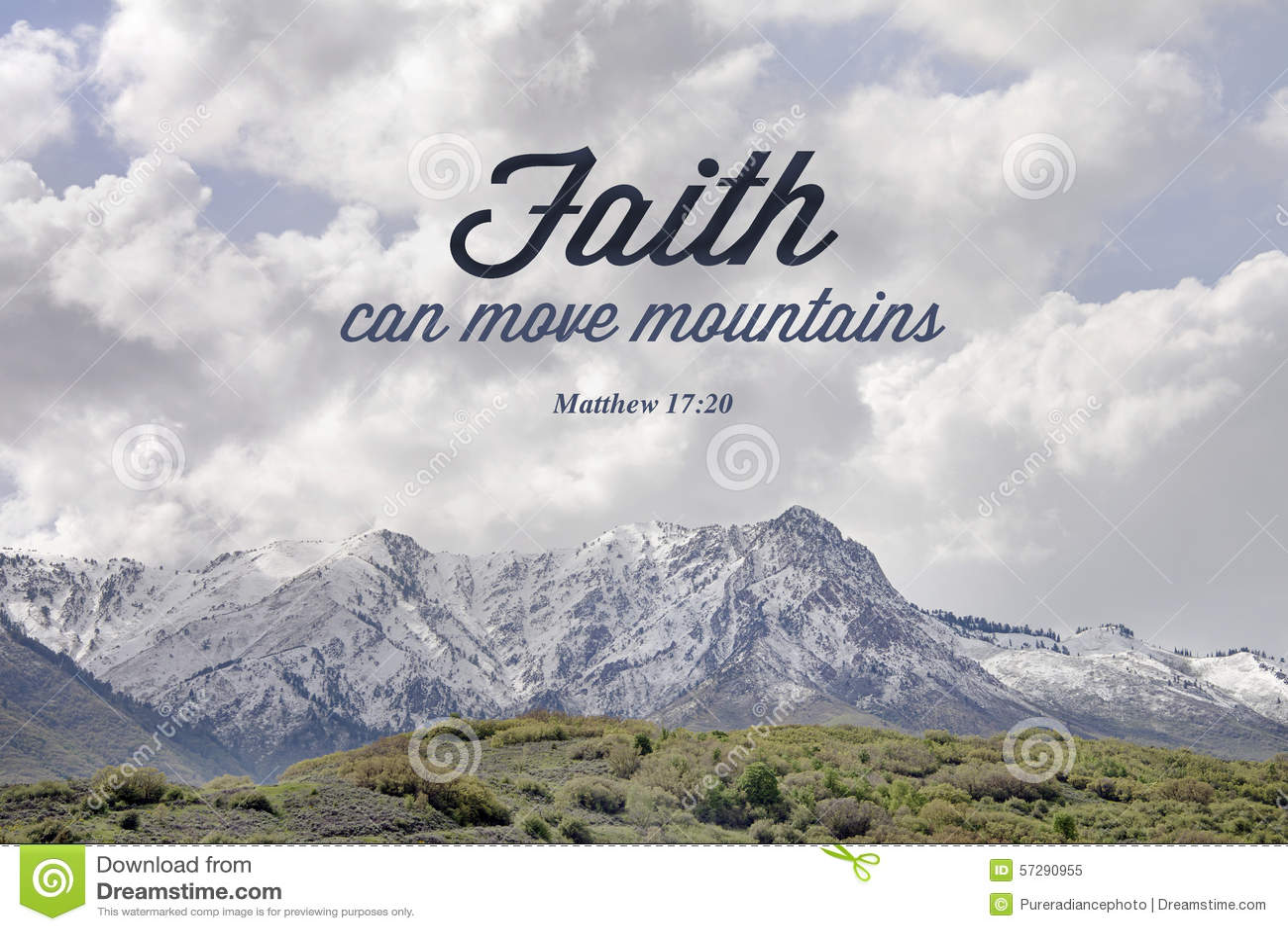 山马修17:20圣经诗歌