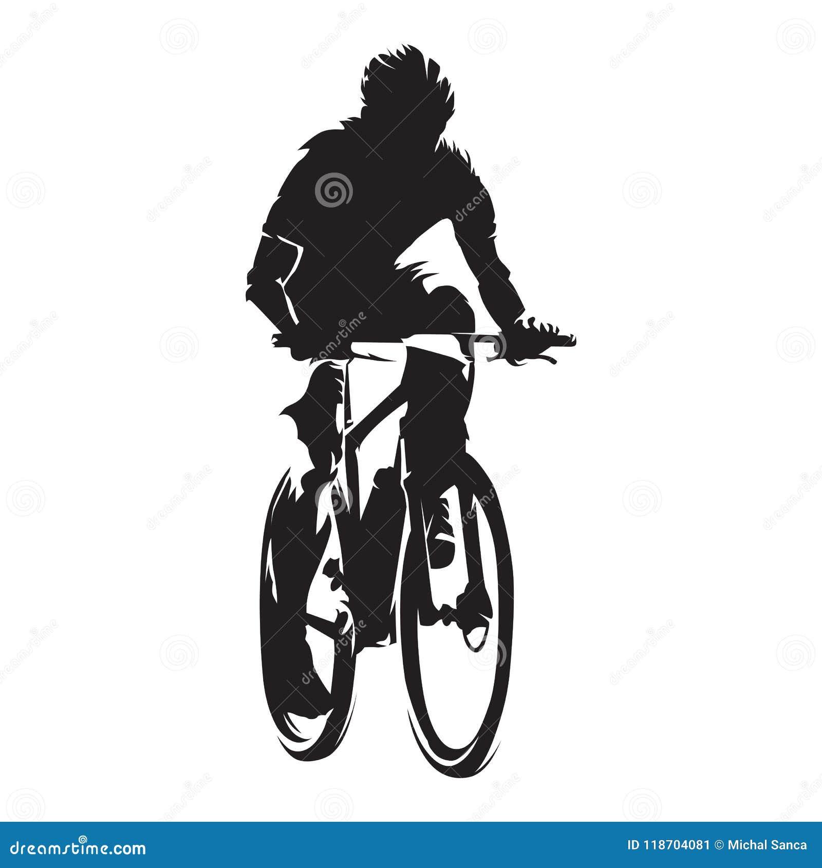 山骑自行车的人,循环,隔绝了传染媒介剪影