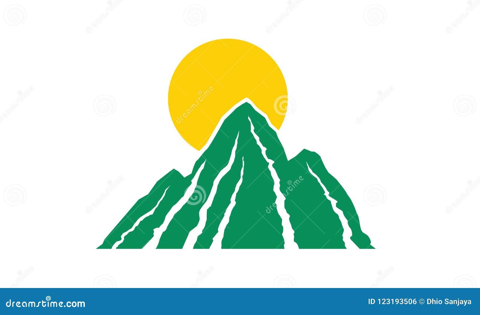 山,太阳,草,商标,自然,绿色,传染媒介象套