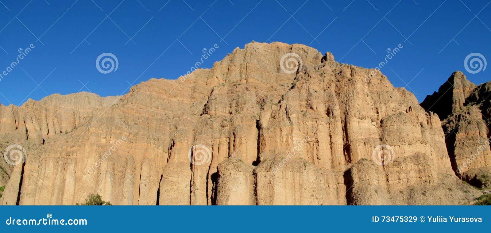 岩层风景在Tilcara,阿根廷