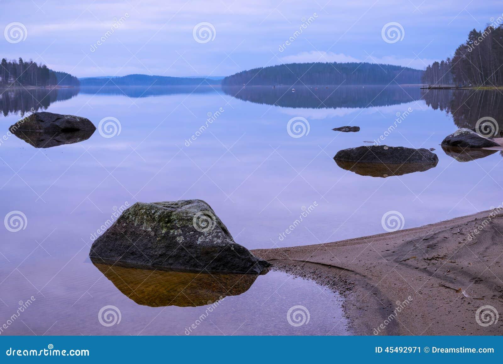 岩石的海滩