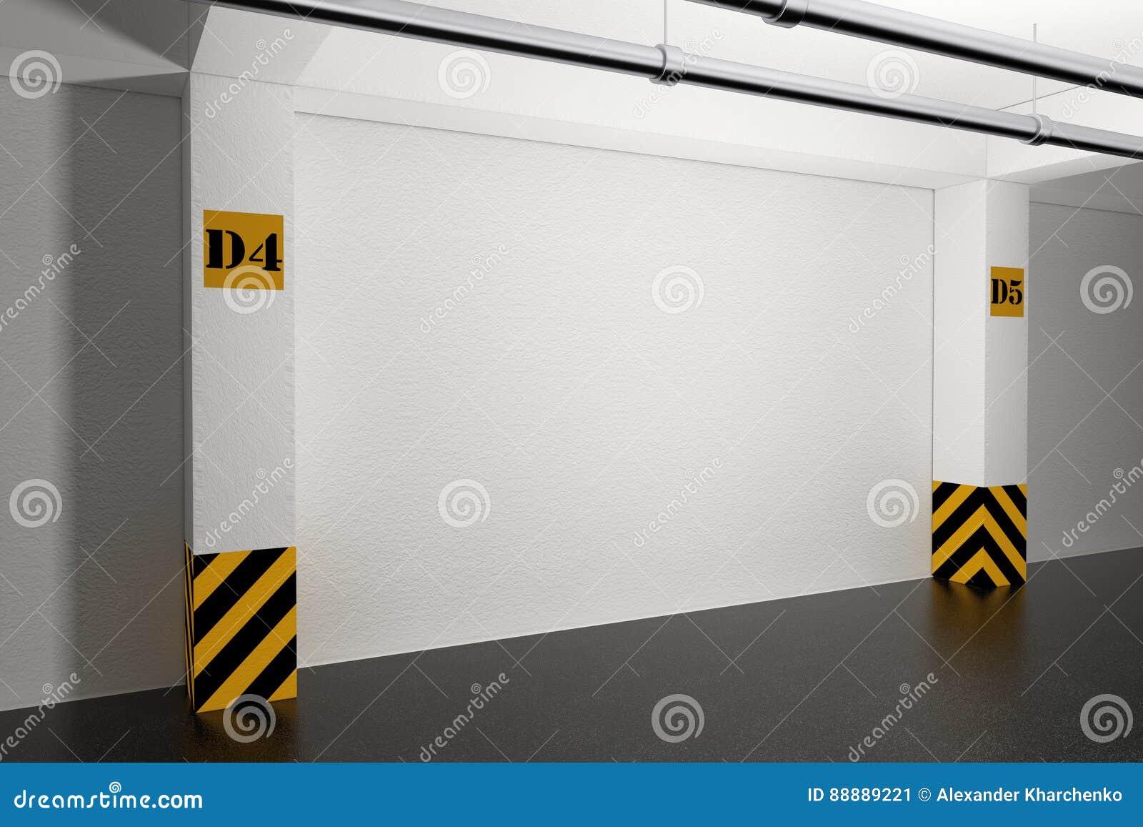 工业内部概念 倒空地下停车库 3