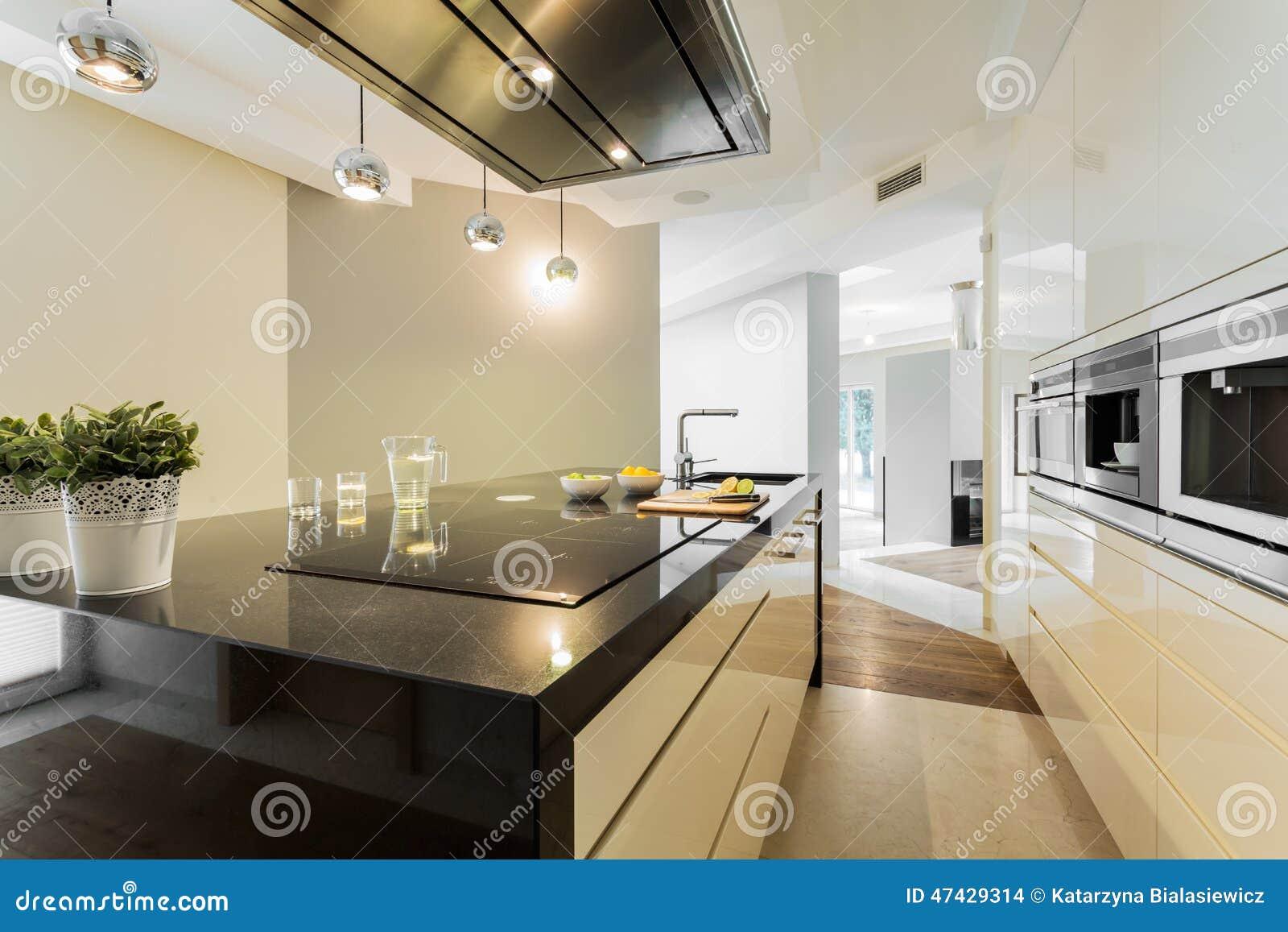 工作台面在设计师厨房里
