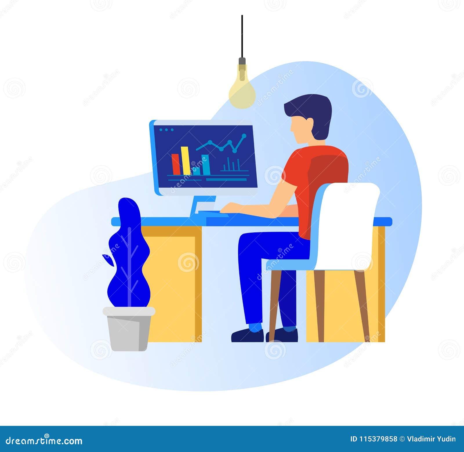 工作在个人计算机的人
