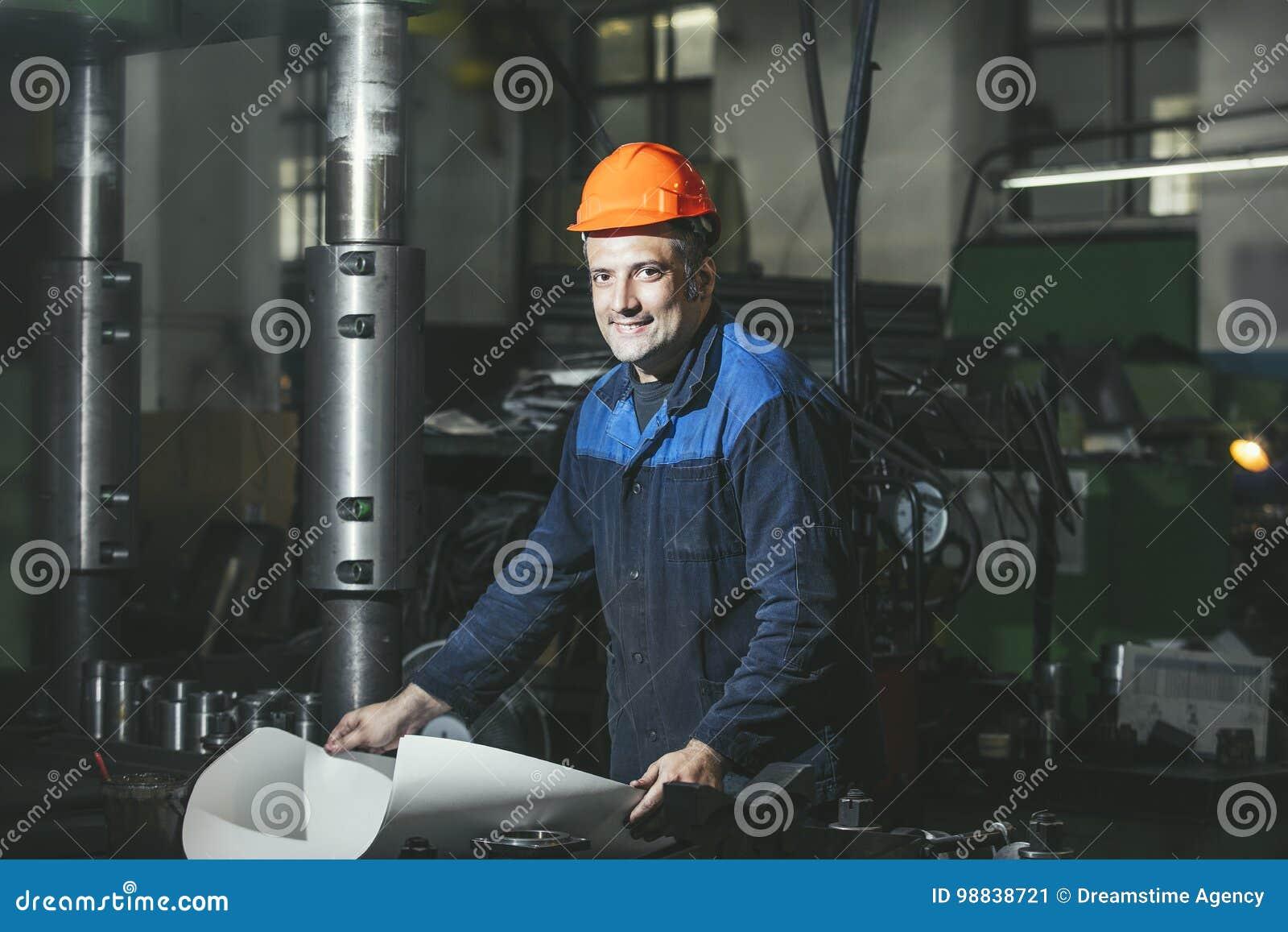 工作在反对机器背景的生产从的