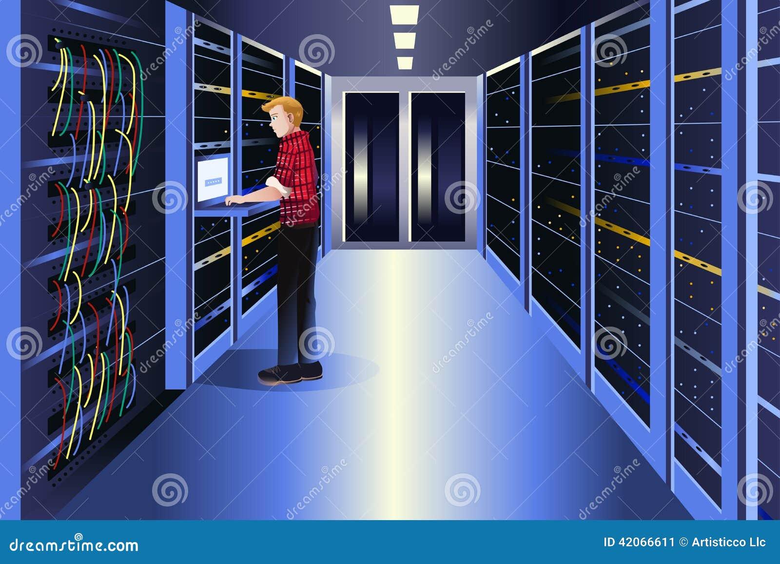 工作在数据中心的人
