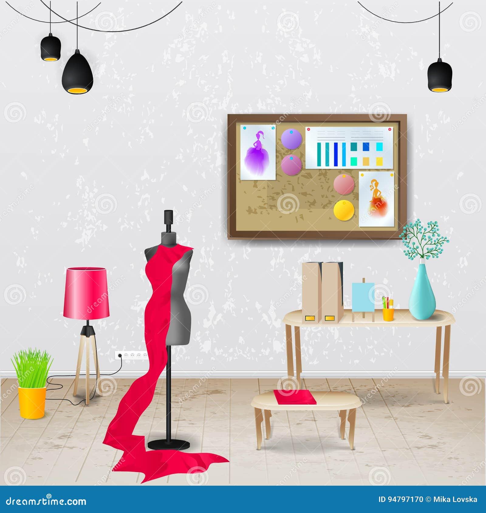 工作场所室 现代办公室的传染媒介例证 时髦和现代内部