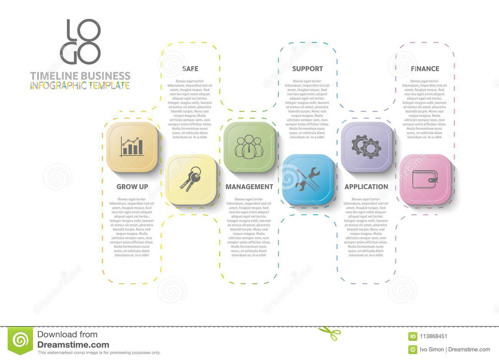 工作流,年终报告,时间安排, infographics