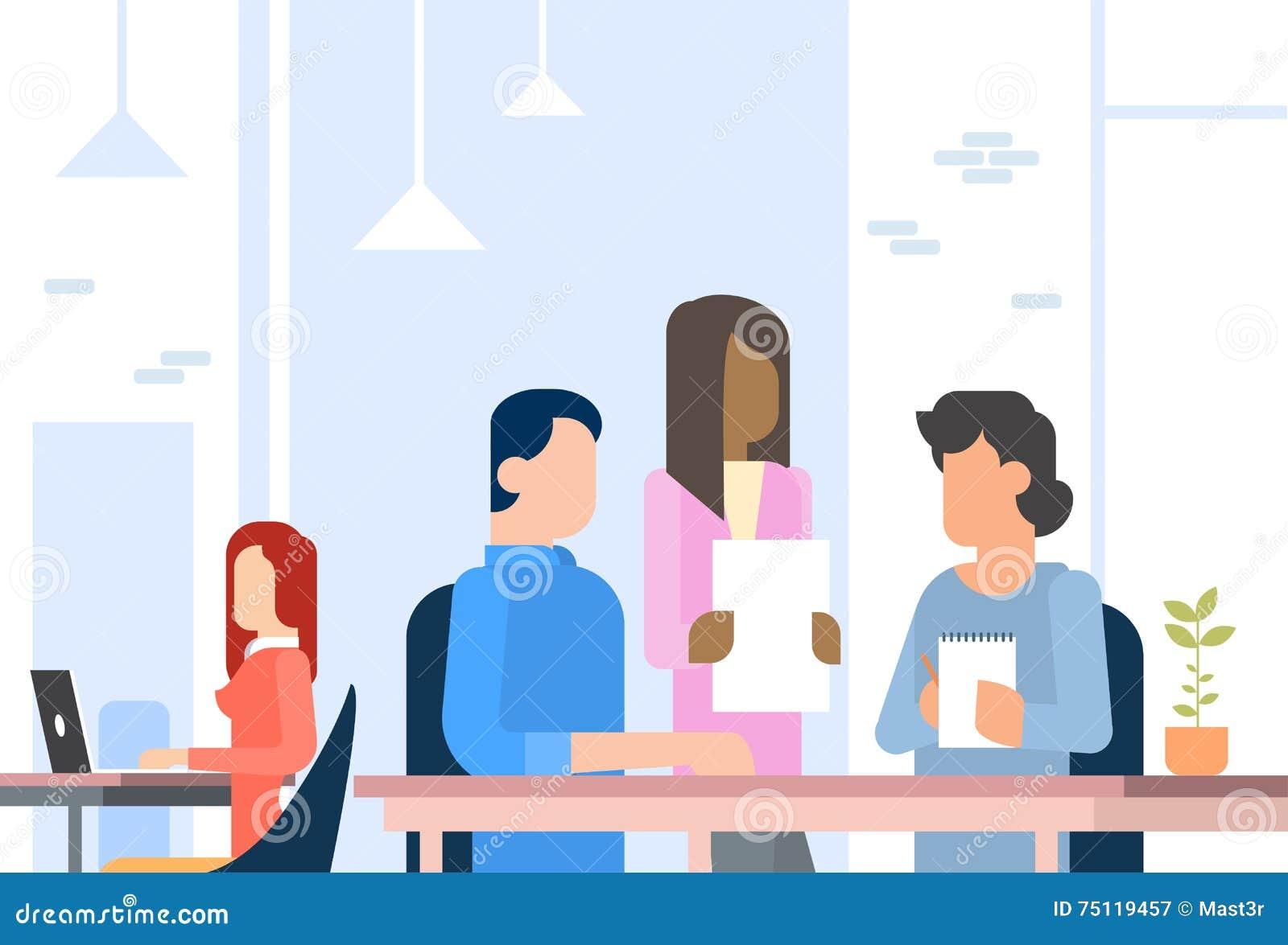 工作Coworking中心开放办公室空间的人们