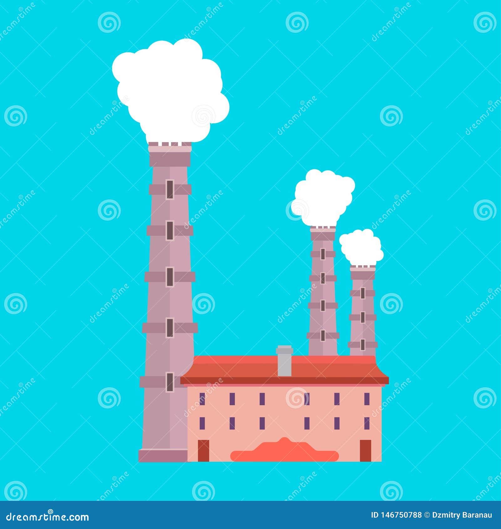 工厂产业生产传染媒介象环境 污染烟建筑学精炼厂 修造的制造业