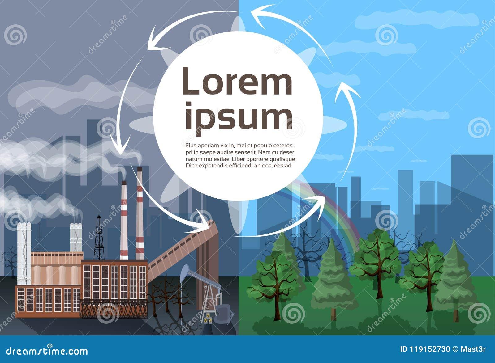 工厂厂房自然污染植物管子废物环境两旁边comparisonside自然全球性变暖非法