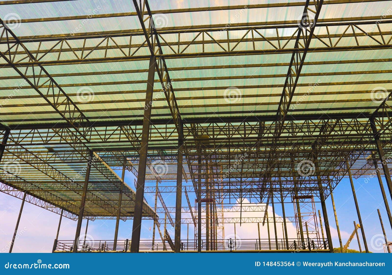 工厂和仓库建筑业的金属钢和铝框架结构