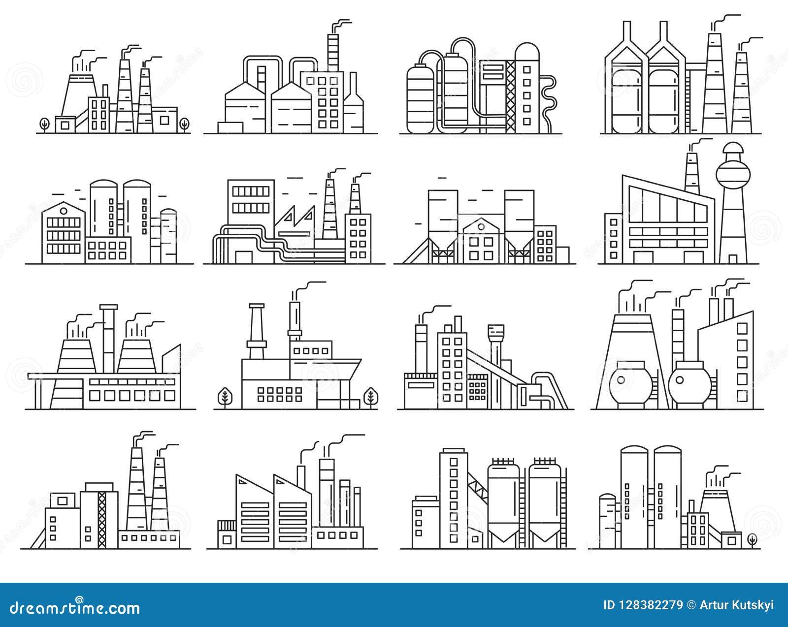 工厂建筑限界样式集合 Indistrial建筑和商业建筑学概述冲程集合