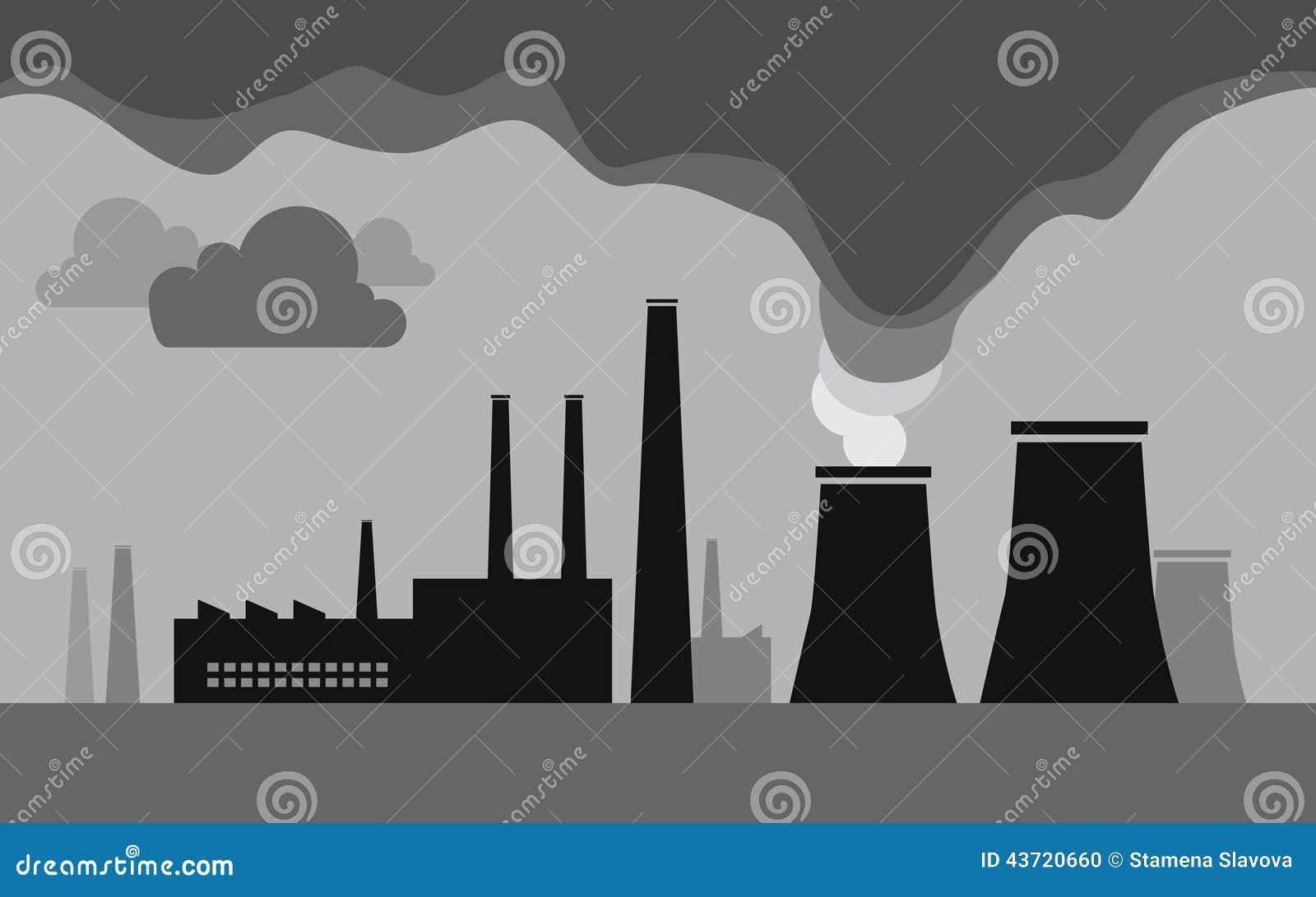 工厂污染例证