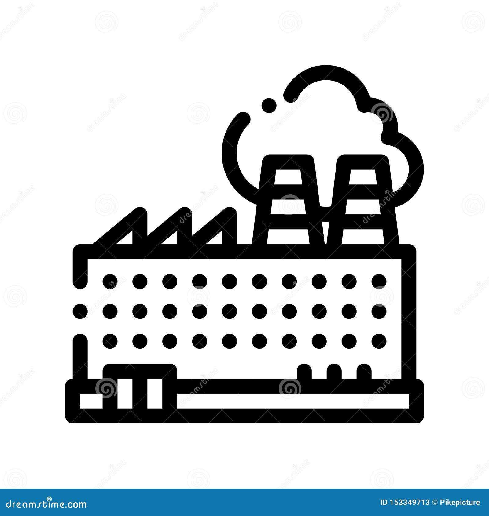 工厂设备大厦传染媒介稀薄的线象