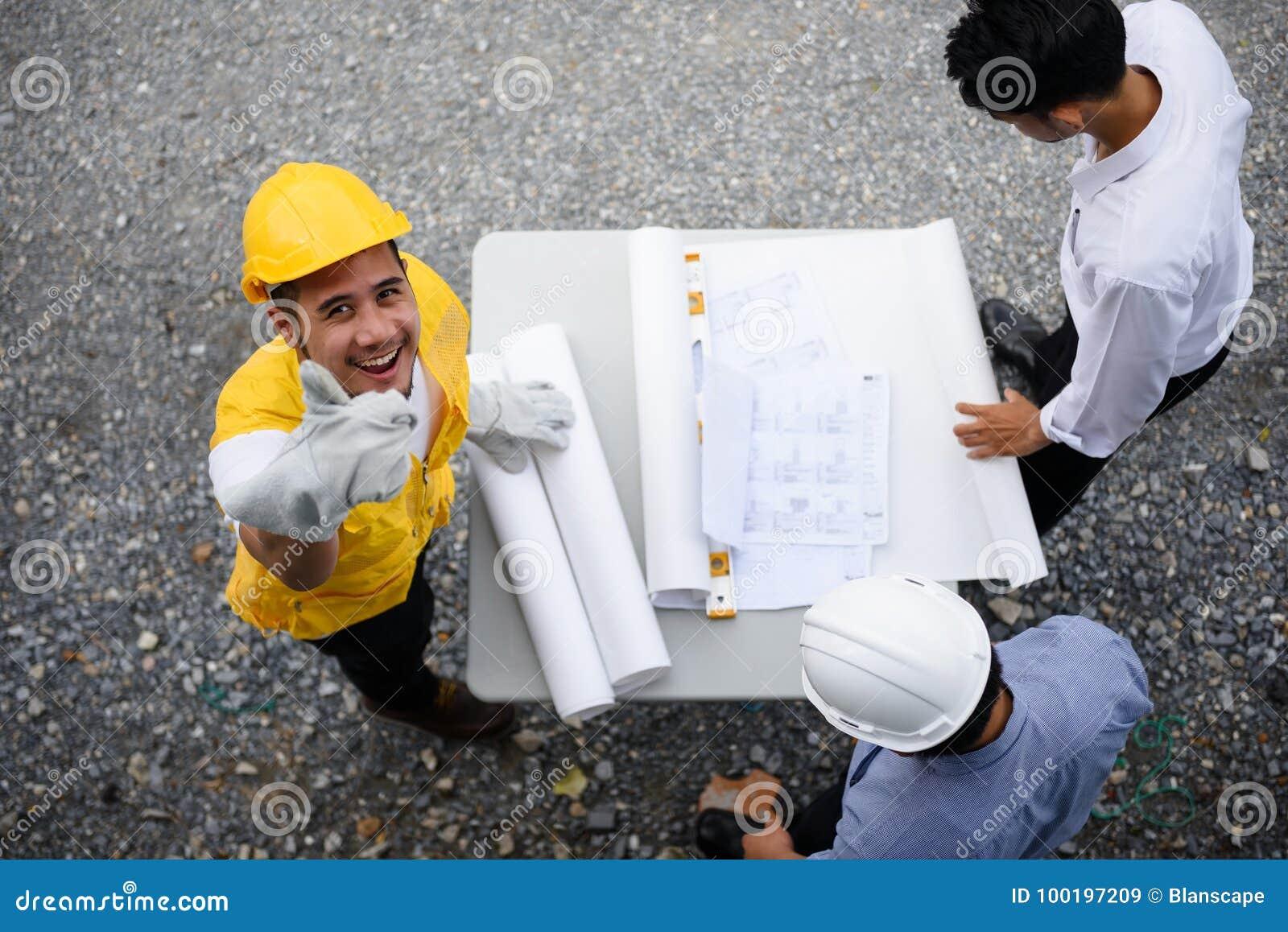 工程学队神色纸由顶视图计划