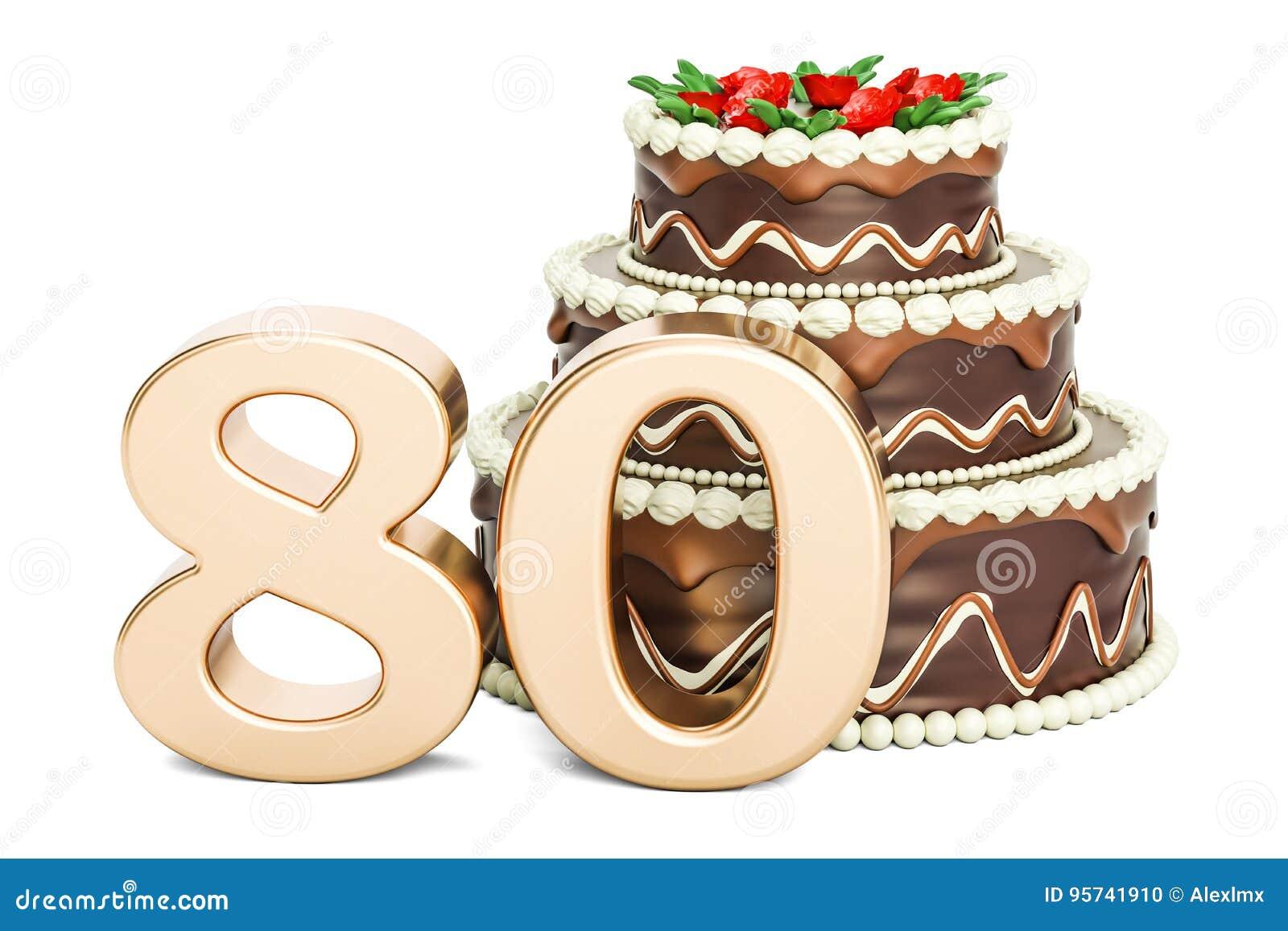 巧克力与金黄第80, 3D的生日蛋糕翻译