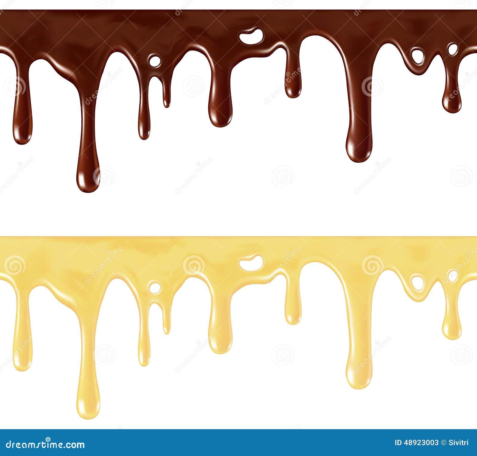 巧克力熔化了