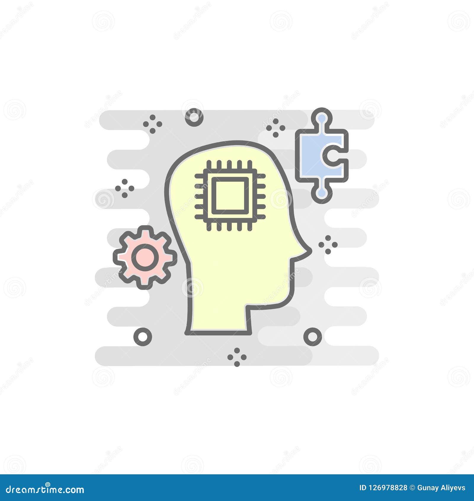 巧妙的头色的象 色的聪明的技术象的元素流动概念和网apps的 颜色聪明的顶头象可以是我们
