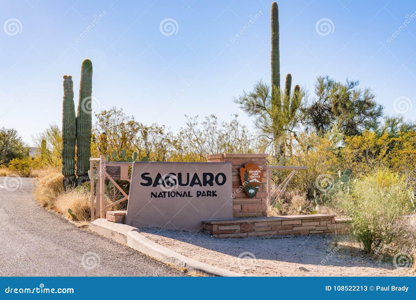 巨人柱国家公园入口标志