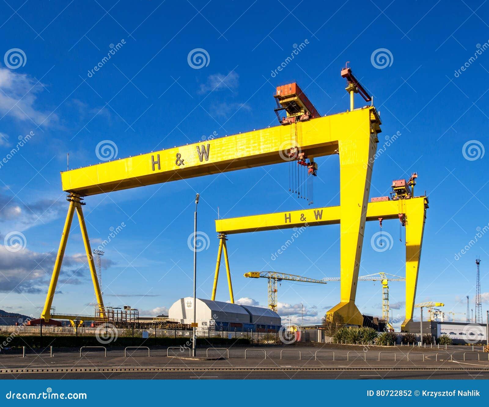 巨人samson 著名造船厂起重机在贝尔法斯特