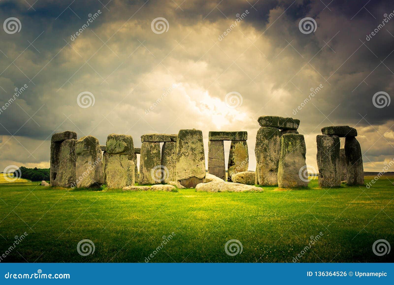 巨石阵纪念碑在威尔特郡,英国
