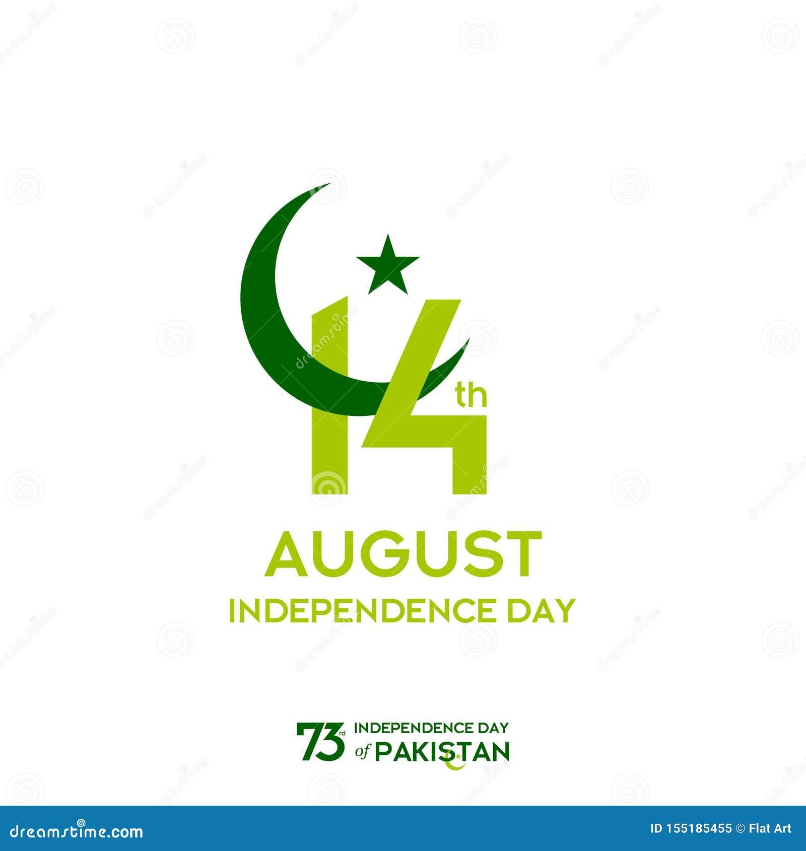 巴基斯坦美国独立日印刷术设计 巴基斯坦传染媒介模板设计第73愉快的美国独立日创造性的印刷术