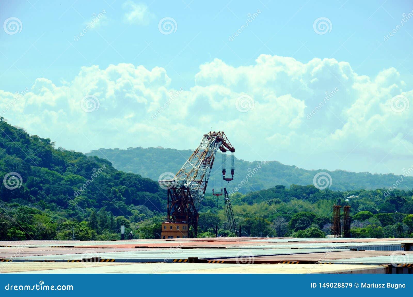 巴拿马运河的风景